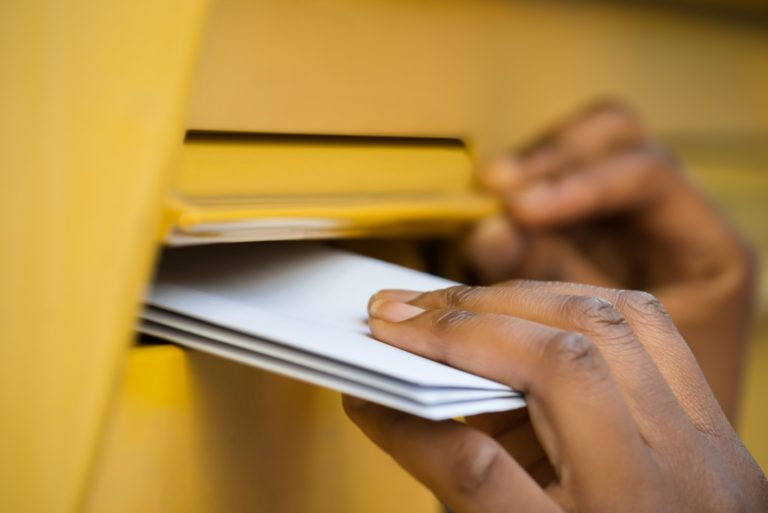 person sending mail