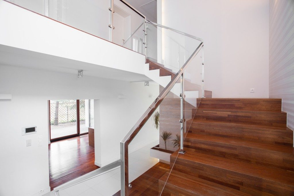 Weeden staircase for a modern house