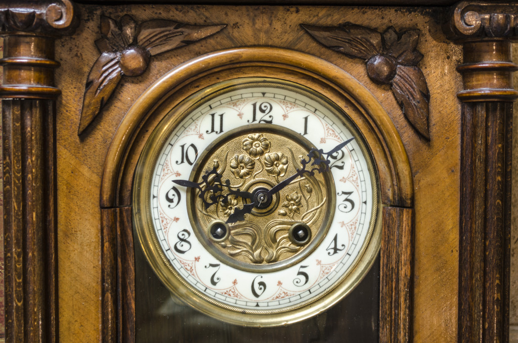 Standing Grandfather Wooden Clock