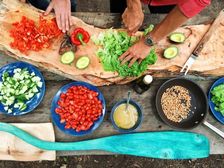 preparing meals outdoor