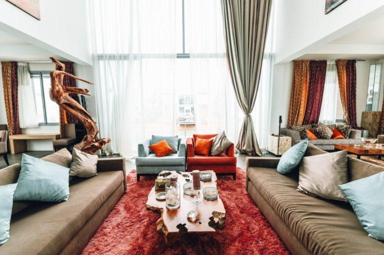 sun-lit living room