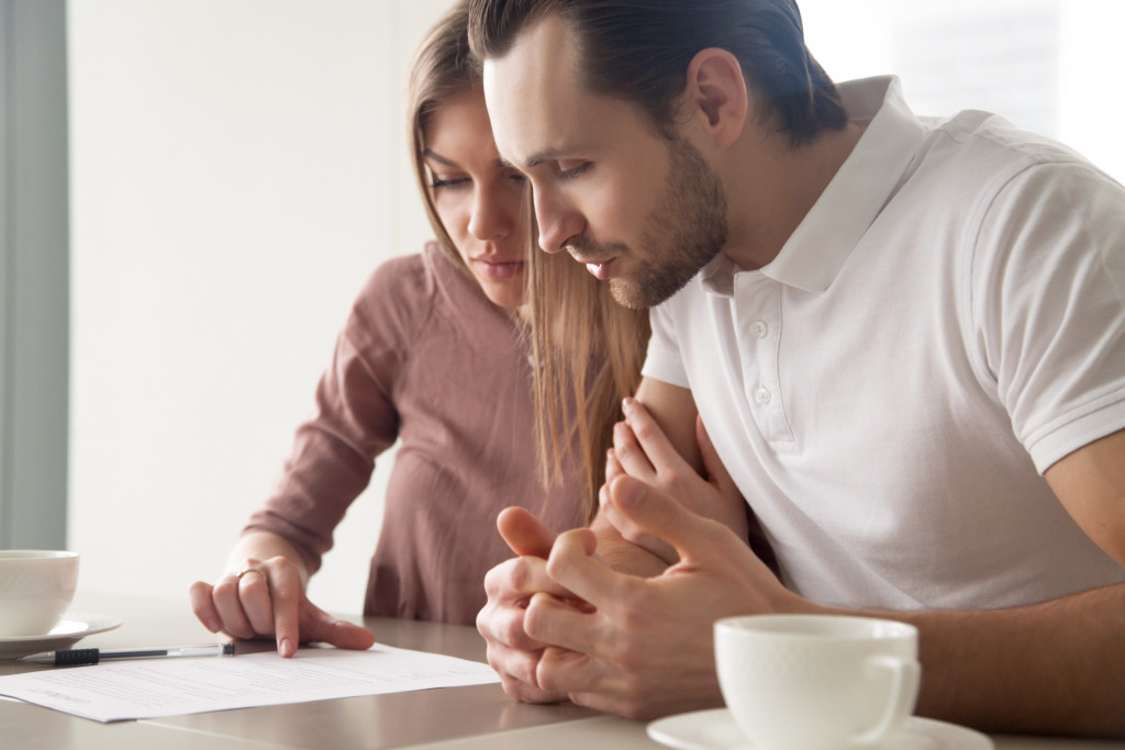 couple looking at buying a house